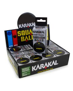 Karakal Yellow Dot Squash Balls
