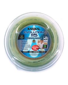 Karakal Evolution 115 Squash Strings 100M Coil - Silver