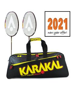 Karakal Black Zone Pro Badminton Racket Twin Pack
