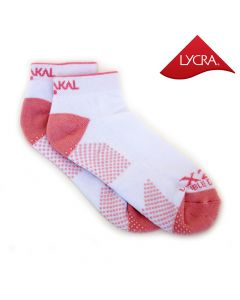 Karakal X2+ Ladies Technical Trainer Socks - White and Pink
