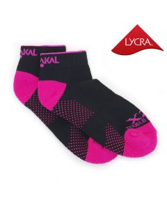 Karakal X2+ Ladies Technical Trainer Socks - Black and Hot Pink