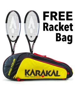 Karakal Black Zone 280 Tennis Racket - Twin Pack