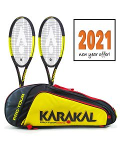 Karakal Black Zone 260 Tennis Racket - Twin Pack