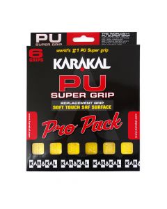 Karakal PU Super Grip Yellow - Pro Pack of 6