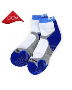 Karakal Mens X4-Technical Ankle Socks - White & Navy Blue