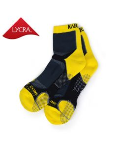 Karakal Mens X4-Technical Ankle Socks - Black & Yellow