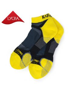 Karakal Mens X4-Technical Trainer Socks - Black & Yellow