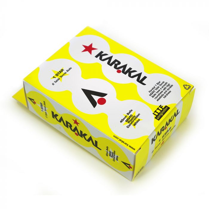 Karakal 1 Star Table Tennis Balls