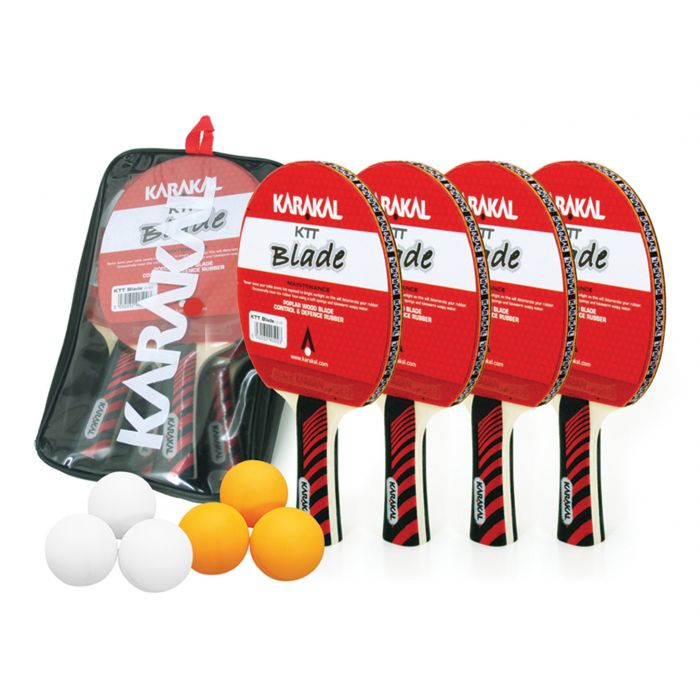 Karakal 4 Bat, 6 Ball Table Tennis Set