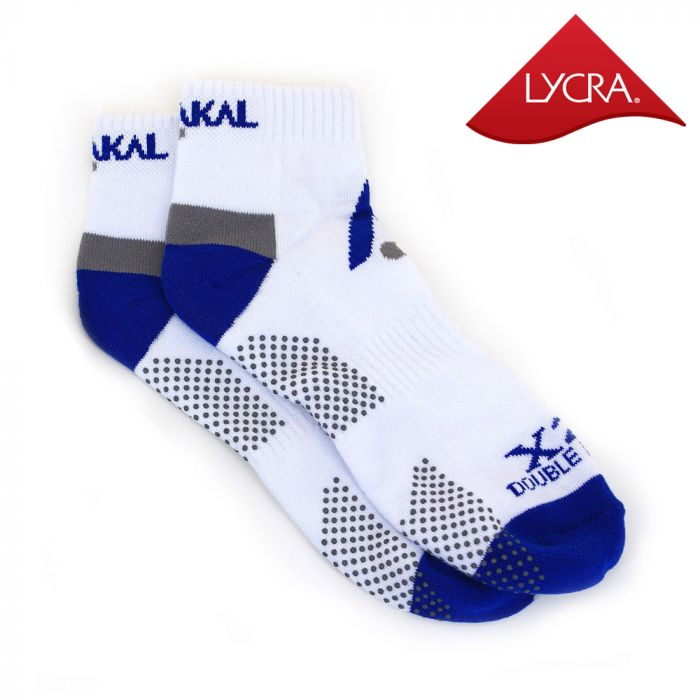 Karakal X2+ Mens Technical Trainer Socks - White and Blue