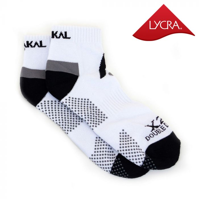 Karakal X2+ Mens Technical Trainer Socks - White and Black