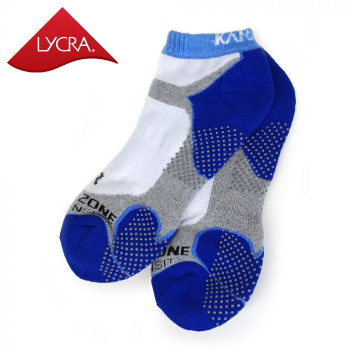 Karakal Mens X4-Technical Trainer Socks - White & Navy Blue