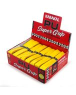 Karakal PU Super Grip Yellow - New Look Box of 24 Squash/Badminton Length
