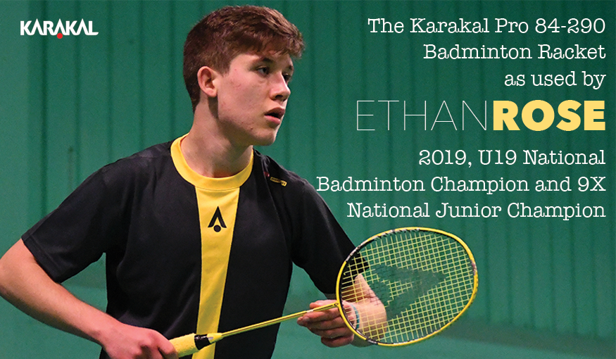 Ethan Rose 2019 U19 National Badminton Champion