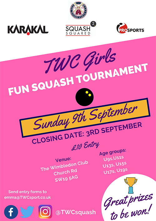 TWC Girls Fun Squash Tournament
