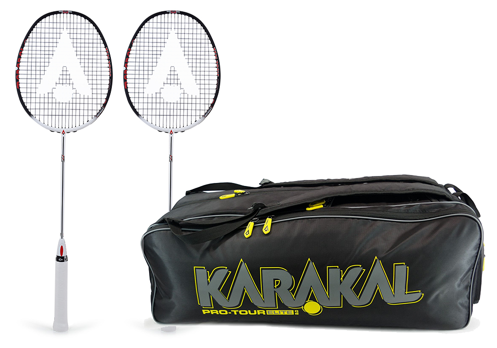 ethan rose karakal rackets and bag
